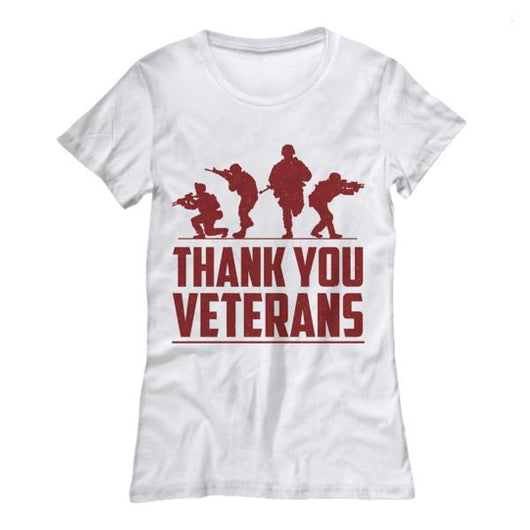 03582fcb ... Proud Thank You Veteran Womens Shirt, Shirts and Tops - Daily Offers  And Steals ...