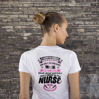 9b02931af Proud Nurse Title Earned Women's T Shirt Design, Shirts And Tops - Daily  Offers And