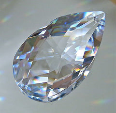 Swarovski Crystal Teardrop Pear Shaped Prism Ornament Suncatcher, 50mm