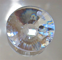 Bohemian Crystal  Sun Disc Prism Suncatcher Ornament, 28mm