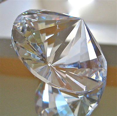 Leaded Crystal Prism Suncatcher Ornament, Diamond Shaped round, 60mm