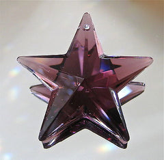 Crystal Deep Amethyst Star Prism Ornament Suncatcher, Large 50mm