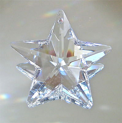 Crystal Star Prism Ornament Suncatcher, Large 50mm