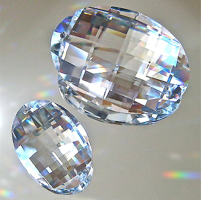 Swarovski Crystal Two Matrix Prism Ornaments Suncatchers, 50mm & 32mm