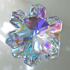 Swarovski Crystal AB Snowflake 25mm Prism Suncatcher Ornament, Retired with logo