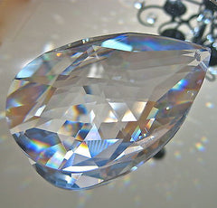 Swarovski Crystal Large Teardrop Pear Shaped Prism Ornament Huge 89mm Logo