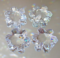 Swarovski Crystal Four Snowflake Prism Ornaments, Unique Art 6707 25mm