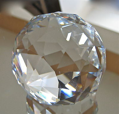 Crystal Ball Paperweight Prism Ornament no hole solid, Large 50mm weighs 9.4 oz.