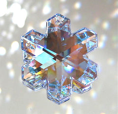 Swarovski Crystal AB iSnowflake Prism Ornament Suncatcher, 35mm Logo, Retired