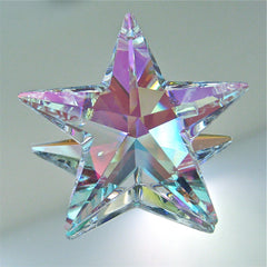 Swarovski AB Star Prism Suncatcher Ornament, 40mm Retired with logo
