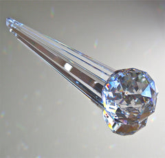 Bohemian Crystal Ball Wand Prism Suncatcher Ornament, 75mm