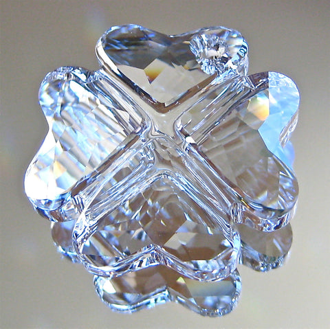 Swarovski Crystal Four Leaf Clover Prism Ornament, Pendant, 28mm, New!