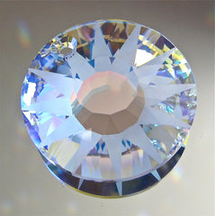 Swarovski Crystal Frosted AB Sun Prism Ornament, Pendant, 33mm, New Release