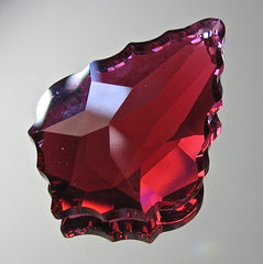 Swarovski Bordeaux Ruby Color Baroque Prism Pendant, 32mm