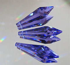Swarovski Crystal 3 Blue Violet Tanzanite Icicle Prism Ornaments 40mm logo