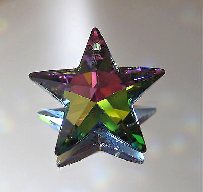 Swarovski Vitrail Medium Star Pendant Prism, 20mm, Retired logo