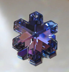 Swarovski Bermuda Blue Snowflake Prism Pendant Ornament 20mm Retired logo