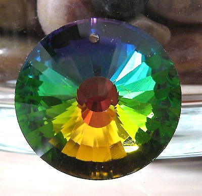 Bohemian Crystal Sun Prism  Suncatcher Ornament Vitrail Medium 35mm