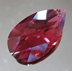 Swarovski Crystal, 38mm Ruby Bordeaux Teardrop Prism Ornament Suncatcher