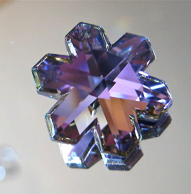 Swarovski Vitrail Light Snowflake Prism Pendant Ornament 20mm Retired logo