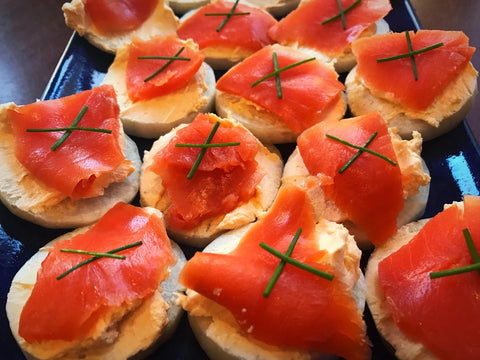 Canapé with salmon