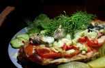 Scandinavian Open-Faced Baked Sandwich