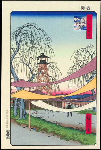 Utagawa Hiroshige - No.006 Hatsune Riding Ground in Bakuro-chō - One hundred Famous View of Edo - Free Shipping