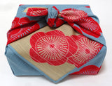 Isamonyou -  Double-Sided Dyeing Plum LB&B - Furoshiki (Japanese Wrapping Cloth)