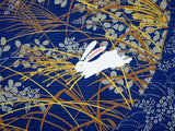 Jiyufu - Viewing the moon Rabbit Navy  - Furoshiki - 118 x 118 cm