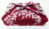 Yu-Soku -  Full of Sakura (D.Red)  - Furoshiki (Japanese Wrapping Cloth)