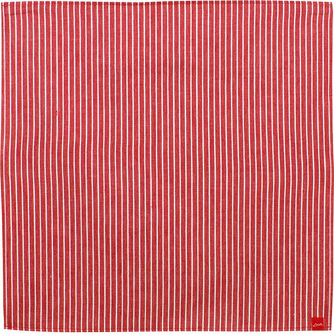Musubi+ Denim Furoshiki - Red stripes - Soft Denim Furoshiki   100 x 100 cm