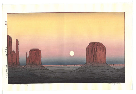Yoshida Toshi - #017103 Monument Valley - Free Shipping