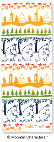 Kenema - Moomin Characters series - Moomin border  (The dyed Tenugui)