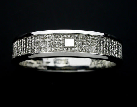 Saito - Heart Sutra Extra Slim  Platinum  Ring (Pt 900)  - Free Shipping