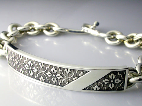 Saito - Monyou With Silver Plate Bracelet (Silver 950) - Free Shipping