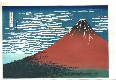 Katsushika Hokusai - #33 - Gaifu Kaisei (South Wind, Clear Sky) - Free Shipping