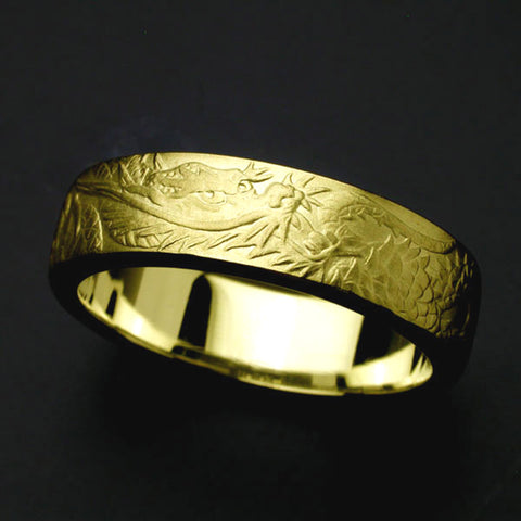 Saito & HORIGYN Collaboration - Rise Dragon - Gold Ring ( 18Kt Gold) - Free Shipping