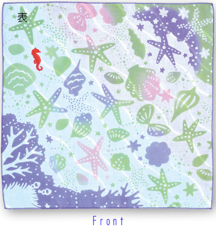 Kenema - Umi no Koe - Gauze Towel (Handkerchief) Double - Sided Dyring