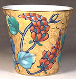 Fujii Kinsai Arita Japan - Somenishiki Golden Kudzu Sake Cup (Guinomi) - Free shipping