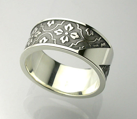 Saito - Monyou With Silver Plate Ring (Silver 950) - Free shipping