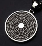 Saito - Heart Sutra Round Shape Silver Pendant Top (Silver 950) - Free Shipping