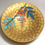 Fujii Kinsai Arita Japan - Somenishiki Golden Fuji (Wisteria) Sake Cup (Hai) - Free shipping