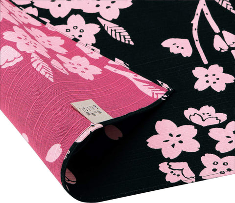 Omotenashi -  Double-Sided Dyeing Sakura Black - Furoshiki 50 x 50 cm (Japanese Wrapping Cloth)