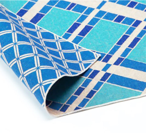 AtarashikiInishie -  Double-Sided Dyeing - Ichimatsu Blue - Furoshiki (Japanese Wrapping Cloth)