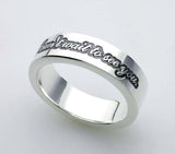 "Saito - Posy Silver 950 Ring - ""I can't wait to see you."" - Free shipping"