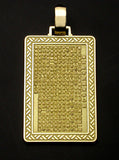 Saito - Heart Sutra Gold Pendant Top (18Kt Gold) - Free Shipping