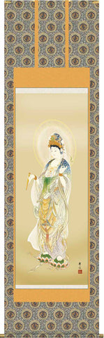 Sankoh Kakejiku - 8E1-K004  Youryu Kannon  (Relief from illness) - Free Shipping