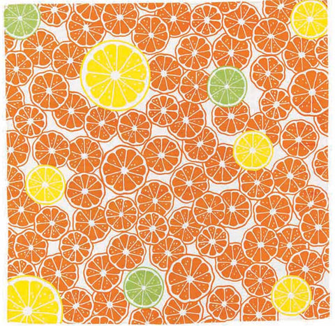 Kenema - Toretate Mikan (Freshly mandarin) Furoshiki (Japanese Wrapping Cloth)