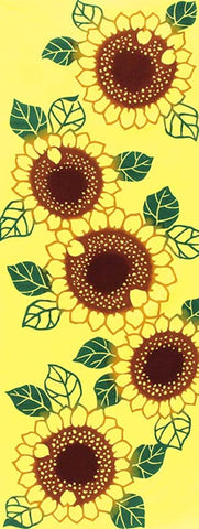 Wafuka - Soreiyu (Sunflower) (The dyed Tenugui)