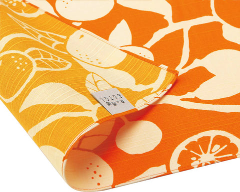 Omotenashi -  Double-Sided Dyeing Daidai - Orange - Furoshiki 50 x 50 cm (Japanese Wrapping Cloth)